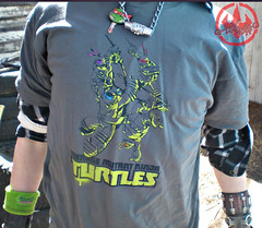 "Nickelodeon TMNT Fan Preview; ""FOUR BROTHERS PIZZA"" // Nick TMNT Preview 'Sketch' t-shirt vii (( 2011 ))"