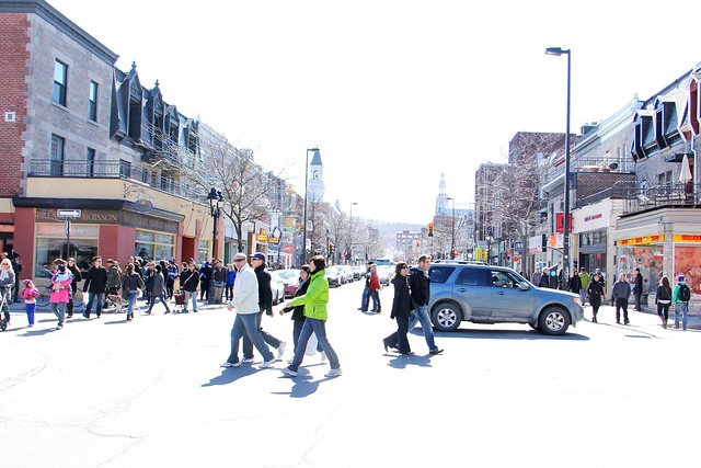 Sunny Saturday on Mt-Royal Avenue
