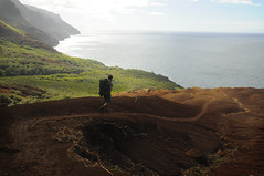 Road to Paradise (Leah Ballin) Tags: ocean sea nature rock america outdoors volcano hawaii unitedstates path hike adventure kauai hiker kalalau napalicoast