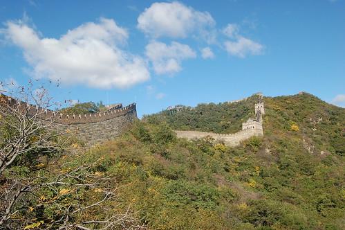 Blick auf die befestigte Seite der chinesischen Mauer