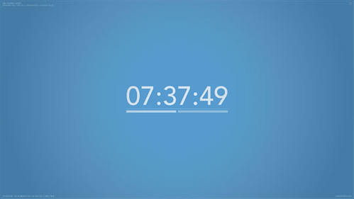 COLOR CLOCK SCREENSAVER
