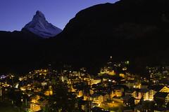 Zermatt night (jeffery edwards) Tags: canon70d zermatt switzerland taesch mountain night longexposure fairytale