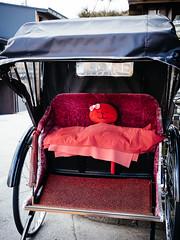 Takayama Walks #2 (david.ow) Tags: rickshaw sarubobo olympus stuffedtoy travel street transportation em5ii city gifu redmonkey sliceoflife japan takayama