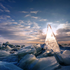 Polar bears could be here? (Bn) Tags: christmas xmas winter light sunset cold ice netherlands skyline iceage froze