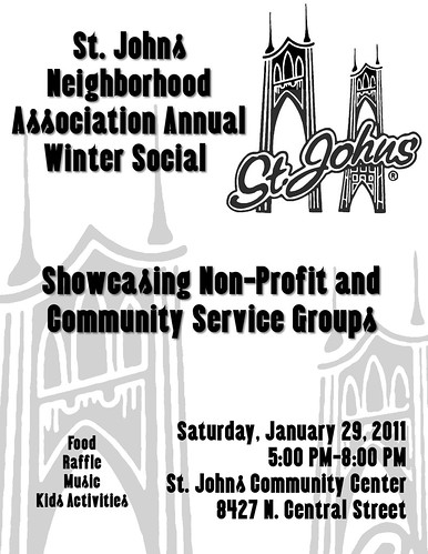 St. Johns Neighborhood Association Annual Winter Social | Portland