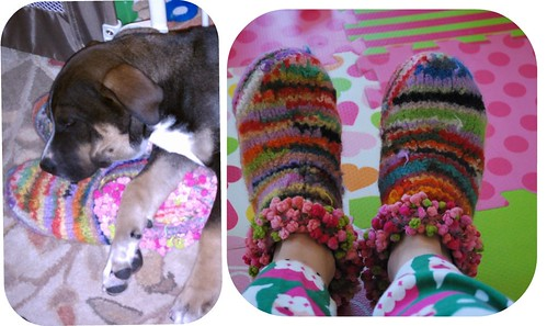 Picnik collage my scrappy slippers