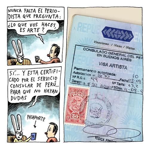 Quadrinho é arte, por Liniers