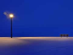 The Big Blue (Kanokin) Tags: morning blue winter snow canada cold dawn nikon hiver ottawa bleu neige froid gitzo matin aurore nepeansailingclub 1424 nx2 d700