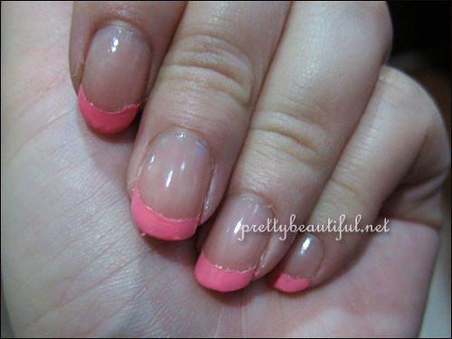 Nail with french tip