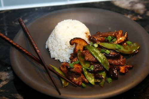 Beef Shiitake and Snow Pea Stir Fry