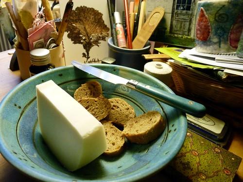 Frühstück am Schreibtisch
