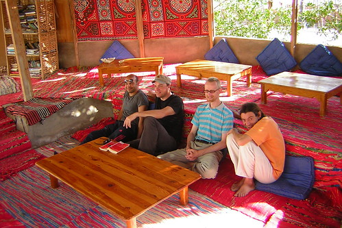 beduin-style hangout area