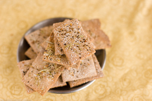 Spouted Whole Wheat Crackers