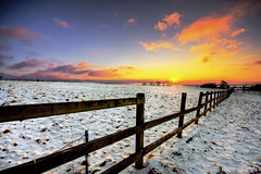 remembering it like it was yesterday (gobayode photography...times) Tags: sunset snow nature fence landscape wintersunset farm stockport boundaries snowpatrol brokenfence naturalcolors hff wintercolors sunsetcolors farmfence snowgrass fenceing bestofblinkwinners farmwintersunset