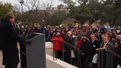 Branch addresses students at the Community College Day Rally