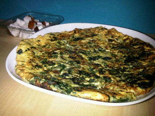 Cardamom spinach omelet