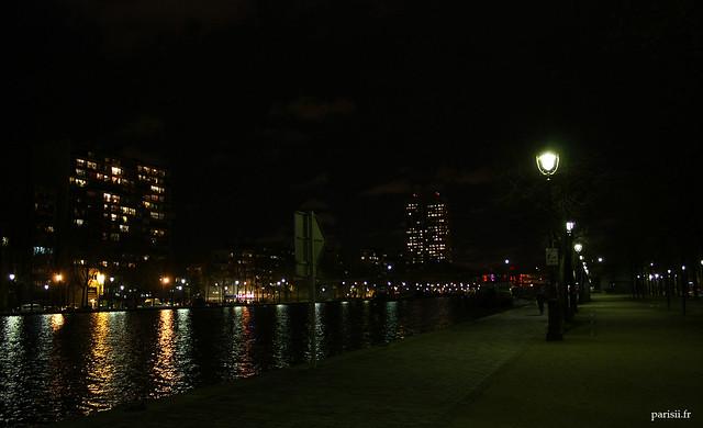 En soirée, le bassin est calme