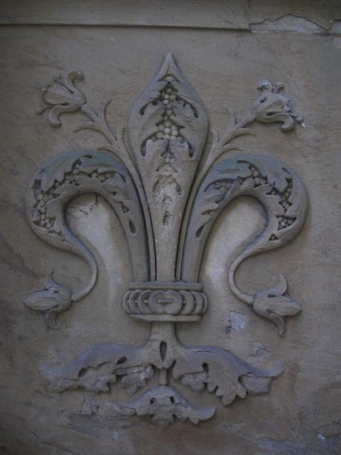 フィレンツェの紋章のフリー写真素材