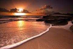 Beach Sunrise (cookbet1) Tags: ocean sea cloud sun seascape beach water sunrise landscape rocks sydney wave australia picnik monavale northernbeaches warriewood  supershot     warriewoodbeach