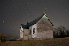 Old 2 Room School House in Looney at Night - Craig County, VA (curtisWarwick) Tags: county old school sky house night canon vintage dark stars virginia high long exposure landmark iso route frame craig noise schoolhouse equivalent 42 reduction oneroom darkframe tworoom 1room 2room longexposurenoisereduction