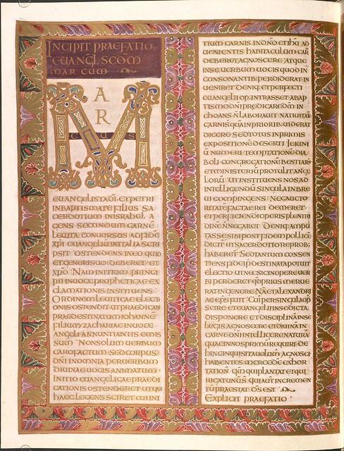 Evangeliar (Codex Aureus) - BSB Clm 14000 r