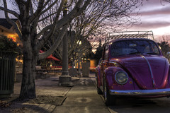 Herbiette (Mike Olbinski Photography) Tags: pink trees arizona cars phoenix sunrise sidewalks hdr vwbug heritagesquare photowalks 5dmkii 20110205