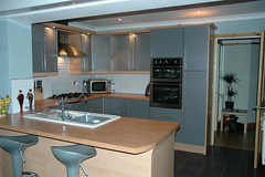 GREY GLOSS KITCHEN,BEECH (DAVIDRAWLINSPHOTOMAN) Tags: home window kitchen bedroom furniture nelson double blackburn planning glazing accrington colne rossendale burnley improvements fitted upvc oswaldtwistle