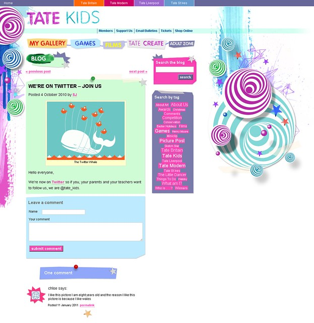 Tate Kids blog