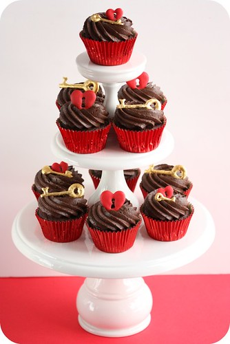 Key to the Heart Cupcakes