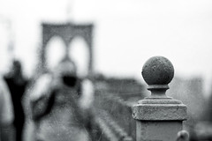Me shooting him shooting me shooting a fence... (Jaime973) Tags: nyc newyorkcity canon fence 50mm raw brooklynbridge friday hff hecaughtme andicaughthim texturebyflorabellaattachebw