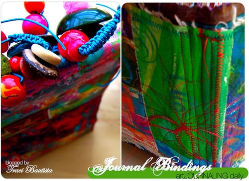 beads, macrame & stitched bindings