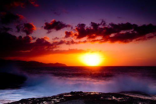 [フリー画像] 自然・風景, 海岸, 海, 夕日・夕焼け・日没, 201102171900