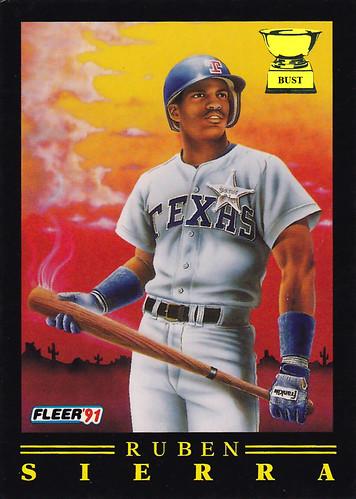 Baseball Card Bust Ruben Sierra 1991 Fleer Pro Visions
