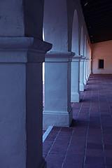 Columns in the Early Morning Light (wyojones) Tags: california door tile sandiego columns np press oldtown breezeway presidiopark serramuseum juniperoserramuseum wyojones