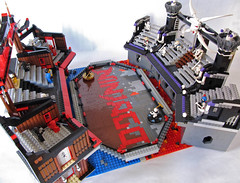 Ninjago Arena Side View (Imagine) Tags: toys lego battle arena tiles minifigs moc foitsop imaginerigney ninjago senseiwu spinjitzu garmadon