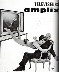 the 1960s-ad for amplix tv-sets (april-mo) Tags: 1964 the60s vintagead electricappliance the1960s 1964ad vintagefrenchmagazine adfortvset vintageadfortvset vintageelectricappliance amplixtvset