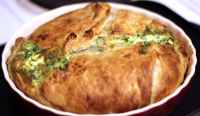 Spinach and Feta *couldn't find filo pastry in tescos* pie