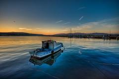 Veda (Nejdet Duzen) Tags: trip travel sunset sea turkey boat trkiye deniz sandal gnbatm turkei seyahat bandrma mygearandme