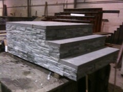 Bluestone treads with stone face
