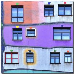 An eccentric facade (Nespyxel) Tags: vienna wien windows art colors architecture facade austria design arte odd eccentric osterreich colori architettura hundertwasserhaus finestre eccentrico facciata friedensreichhundertwasser stravagante impressedbeauty nespyxel stefanoscarselli fachadasconencanto2dconcurso36