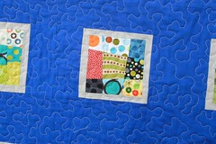 A Legion of Dots quilt - quilting close-up (Don't Call Me Betsy) Tags: quilt wonky crazy9patch konaash konaocean