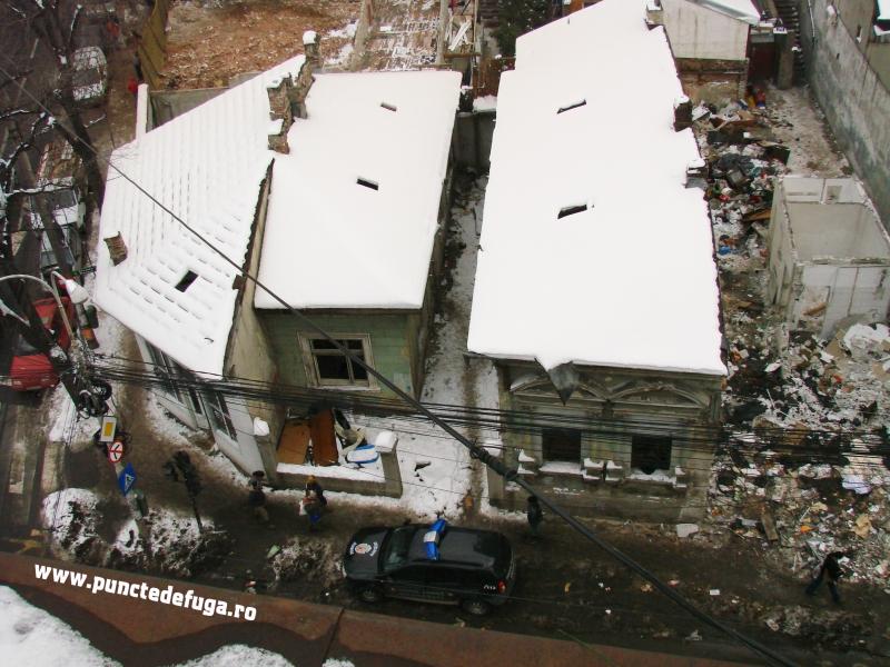 strada berzei in timpul demolarilor ianuarie 2011