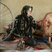 Woman spins wool - Hotan silk factory