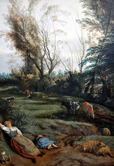 Jans Siberechts - Pasture with Sleeping Woman at Alte Pinakothek Munich Germany (mbell1975) Tags: old sleeping woman art dutch museum germany painting munich münchen deutschland golden gallery museu with musée musee m pasture age artists museo masters jans muzeum pinakothek alte müze siberechts museumuseum