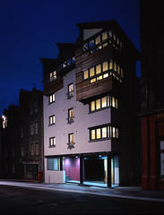 View of Canongate Housing From Royal Mile At Night