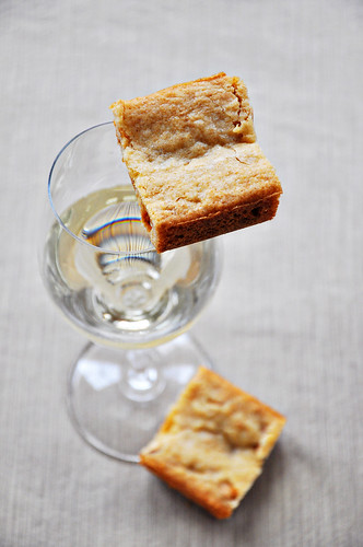 Oak Bars (Blondies made with Chardonnay)