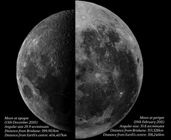 The Moon at Perigee and Apogee (von Tom) Tags: moon full size comparison lunar apogee perigee moonageddon