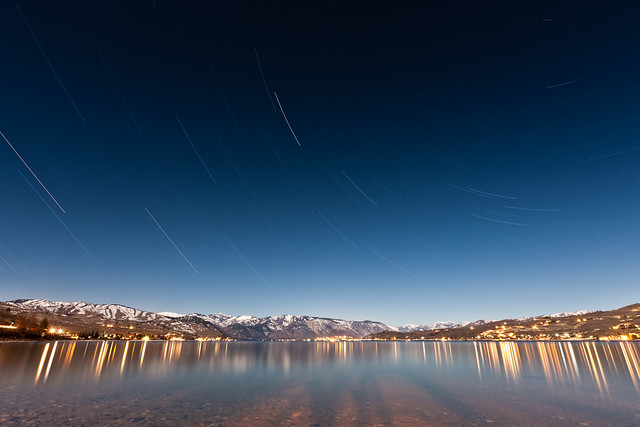 Startrails on Lake Chelan