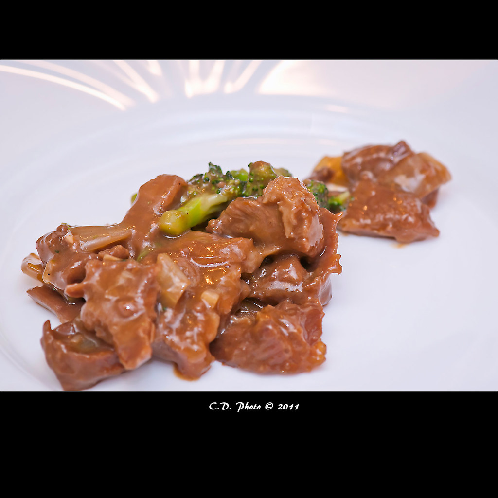 ~ Beef with broccoli and oyster sauce ~