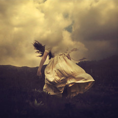 upon pondering (brookeshaden) Tags: mountain storm nature clouds trapped dress wind brookeshaden texturebylesbrumes